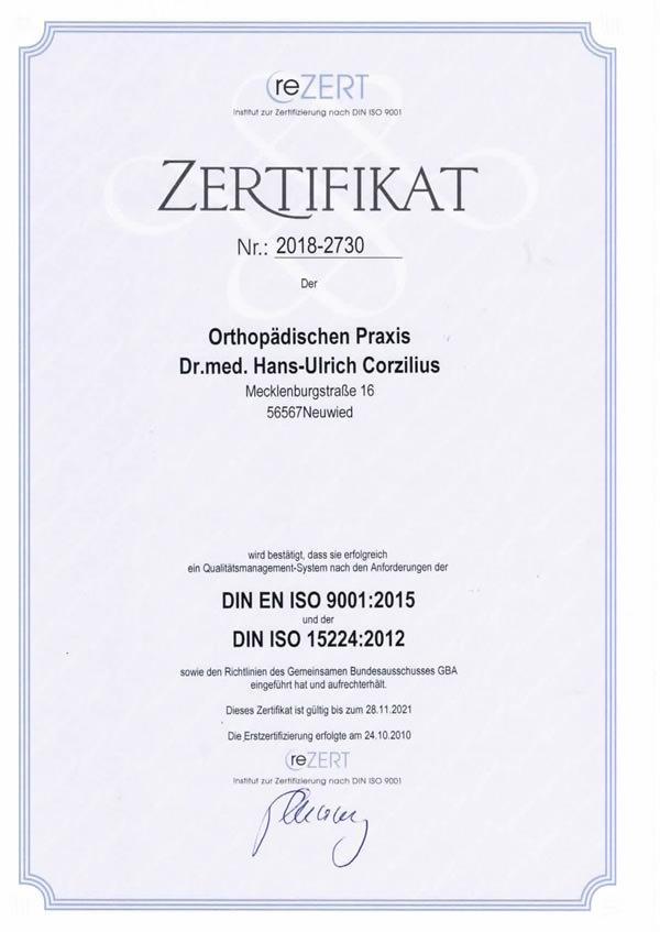 Zertifikat CMC Orthopädie